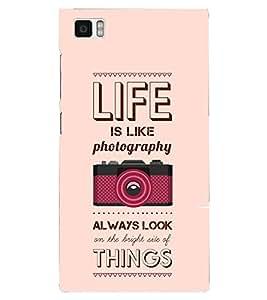 PRINTSHOPPII LIFE QUOTES Back Case Cover for Xiaomi Redmi Mi3::Xiaomi Mi 3