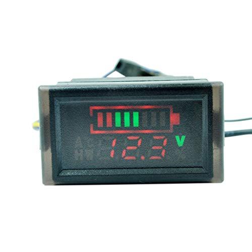 Wasserdichtes Voltmeter Batteriekapazitätsanzeige für Elektro-Scooter, Fahrrad, 6-120 V
