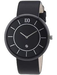 Danish Design - 3314444 - Montre Mixte - Quartz Analogique - Bracelet Cuir Noir