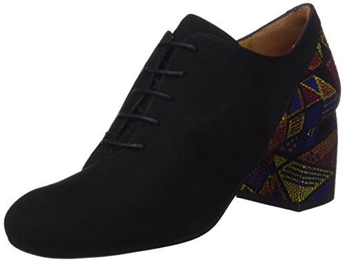 Audley 20193, Zapatos Cordones Oxford Mujer, Negro