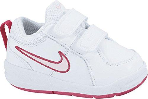 Nike scarpe sportive tennis, unisex - bambino, bianco/rosso/rosa, 26