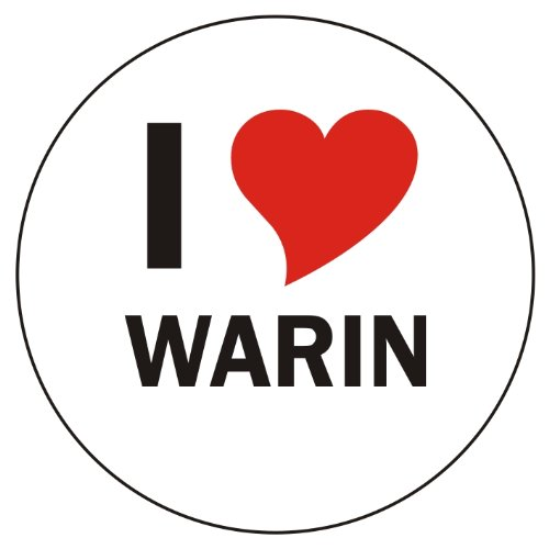 I Love WARIN Laptopaufkleber Laptopskin 210x210 mm rund