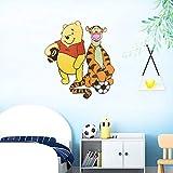 Winnie l'ourson ours Disney amovible pépinière Wall Decal coloré ours Animal décoratif enfants Stickers muraux pour chambre de bébé, salle de jeux murale