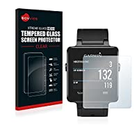 Savvies Tempered Glass for Garmin Vivoactive Screen Protector - HD Ultra Clear, 9H Hardness, 0.33mm