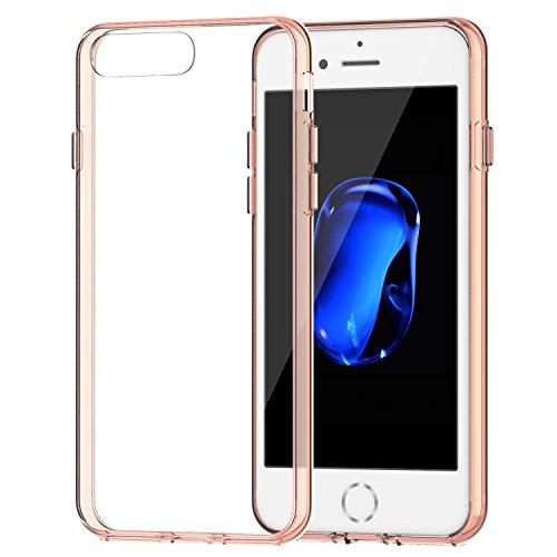 Funda iPhone 7 Plus, JETech Apple iPhone 7 Plus Funda Carcasa Case Bumper Shock- Absorción y Anti-Arañazos Borrar Espalda para iPhone 7 Plus 5.5 Inch (Rosa) - 3431B