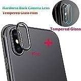 Für iPhone XS Max 6.5 Zoll Kameraring [Schwarz], Kamera Transparentes Schutzglas,Ultra-klar Hohe Transparenz 9H Härte, Anti-Kratzen,Anti-Öl, Anti-Bläschen Panzerglas Displayschutzfolie