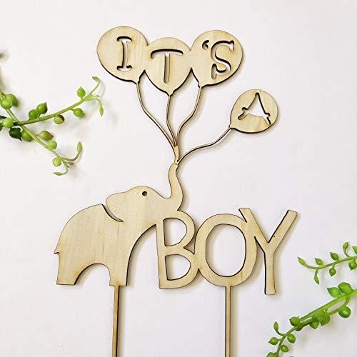 Personalisierte Hochzeitstorte Topper It's A Boy Baby Shower Elefant Ballon Rustikal Gold Baby Sprinkle Oh Baby Cake Topper Hochzeit Geschenk Ideen