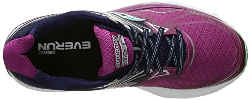 Saucony Ride 9 W, Entraînement de course femme Multicolore - Multicolore (Purple/Pink/Blue)