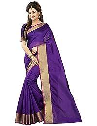 Tagline Women's Cotton Silk Saree With Blouse Piece