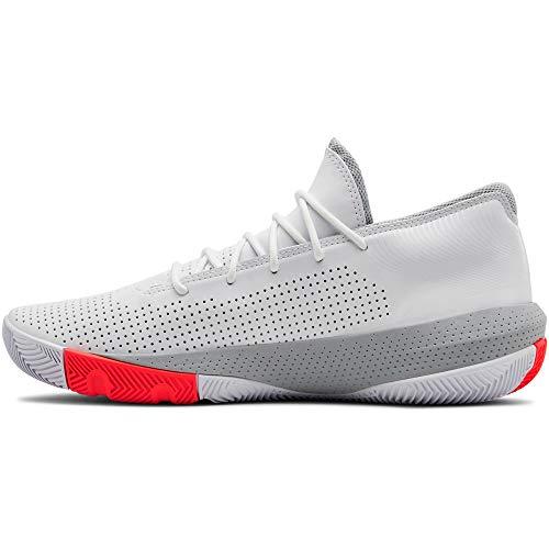 Under Armour SC 3zer0 III, Zapatos de Baloncesto para Hombre, Blanco (White Mod Gray 100), 44 EU