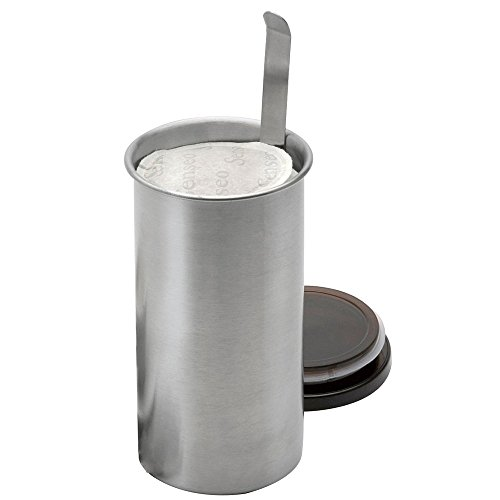 Weis Kaffeepad-Dose, Edelstahl, Silber/schwarz, 8.5 x 8.5 x 16 cm