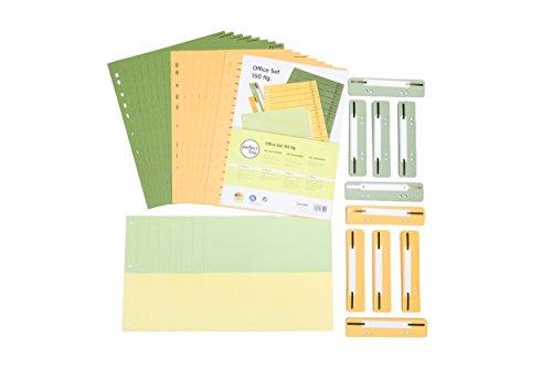 perfect line 150-teiliges Büro Organisation-Set, 50 Trennstreifen, 50 Heftstreifen, 50 Trennblätter, 2 Farben, perfekte Ordnung auch für Zuhause