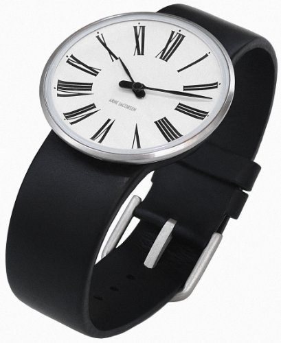 Arne-Jacobsen-Roman-Unisex-Watch-43432-with-Black-Calf-Skin-Strap-Small