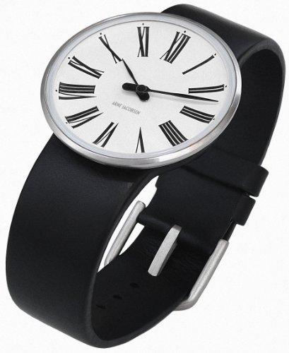 Rosendahl 43442 - Reloj analógico unisex de cuarzo con correa de piel negra