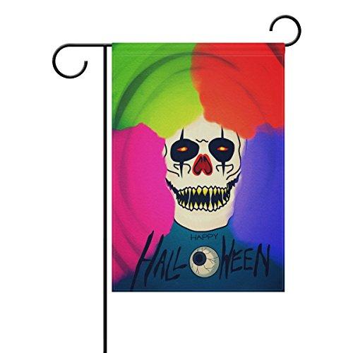 Doppelseitig Happy Halloween Colorful gruselige Totenkopf Polyester HAUS/Garten Flagge Banner 12x 18/71,1x 101,6cm für Hochzeit Party alle Wetter, Polyester, mehrfarbig, ()