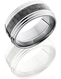 Titanium, Wedding Band Carbon Fiber Center Inlay (sz H to Z1)