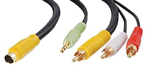Cables To Go Value Series S-Videokabel (3x RCA Stecker, 3,5mm Klinken Stecker mit Mini-DIN Stecker, 7,0m) -