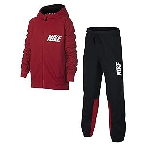 Nike Jungen Sportswear Track Suit Poly Boys Trainingsanzüge, dunkelrot, XS