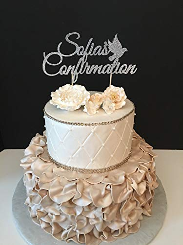 Monsety Personalisierte Konfirmation Konfirmation Hochzeit Kuchen Topper Buchstaben lustig Hochzeit Jahrestag Kuchen Topper Party Event Dekoration