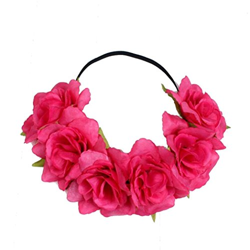 LUCKDE Stirnband Damen, Blumen Haarband Braut Geflochtenes Haarreif Kopfschmuck Vintage Haarschmuck...