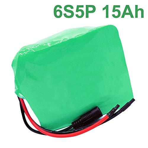 24V 15Ah Li-ion Batteria batteria elettrica bici elettrica 6S5P