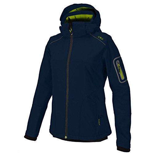CMP Softshell Outdoor Jacke Damen Franceska, Farbe:Navy-Lime, Größe:44