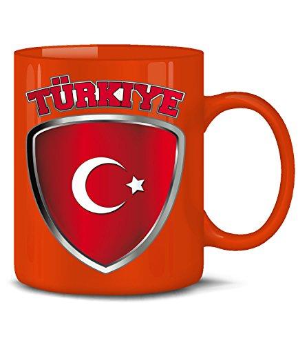Golebros Türkiye Wappen 4676 Fussball Fan Fanartikel Geburtstag Geschenk Türkei Turkey Fun Tasse Becher Kaffeetasse Kaffeebecher Rot