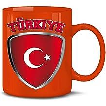 I LOVE TÜRKEI KaffeeBecher FUSSBALL WM 2018 Keramik Tasse