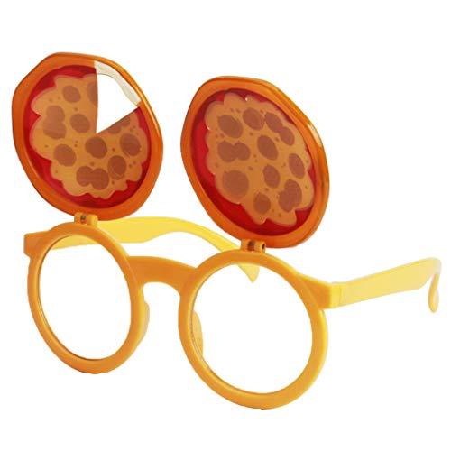 Fenteer Spaß Spass Brille Partybrille Sonnenbrille Faschingskostüm Karnevalskostüm Requisiten Foto Props - Pizza
