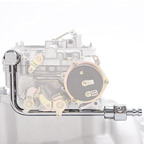 Chrome Line (Edelbrock 8126 Chrome Fuel Line for EPS Carb.)