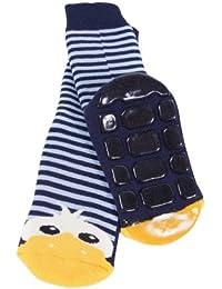 Weri Spezials Unisexe Bebes et Enfants ABS Eponge Caneton Chaussettes Marine