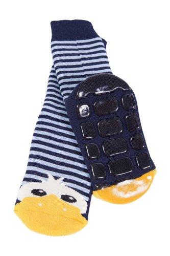 Weri Spezials Baby Voll-ABS Socke Enten Motiv in Marine Gr.19-22 (12-24 Monate)