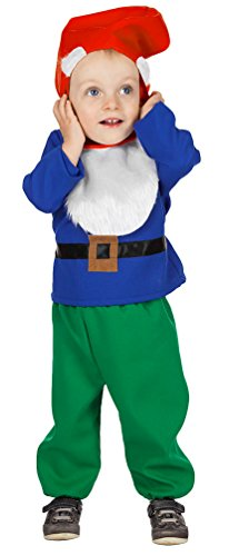 Karneval-Klamotten Zwerg Kostüm Kinder Zwergen Kostüm Märchen-Kostüm mit Zwergen-Mütze Karneval Baby-kostüm Größe 86