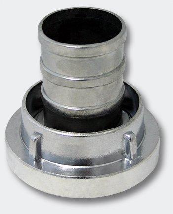 WilTec Storz-Kupplung B 75 mm mit langem Stutzen Schlauchkupplung Aluminium