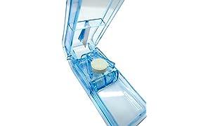PuTwo - Pastillero de viaje con estuche, color azul