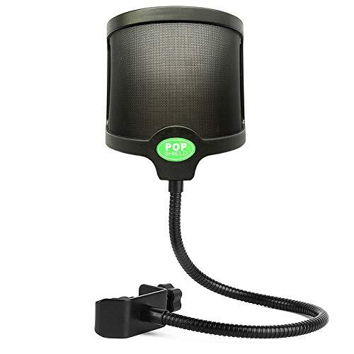 Tencro Mikrofon Pop Filter Double-Layer U-förmigen Sound Mesh Shield Guard Windschutzscheibe mit Swivel Mount Flexible Halterung für Blue Yeti und andere Recording Studio Mic - Blue Yeti Mikrofon-pop-filter