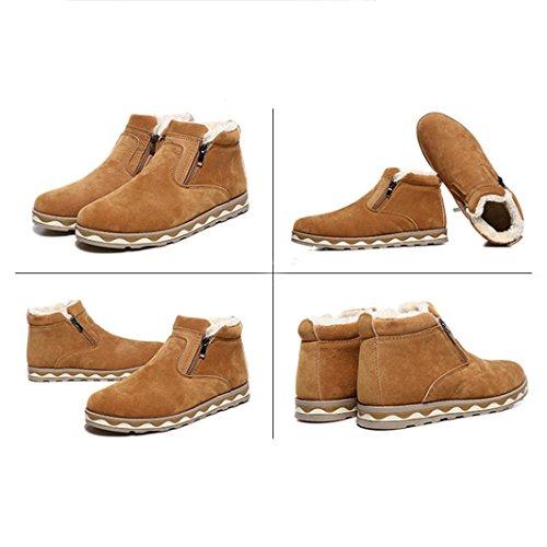 Familizo-fami Chaussures Hommes Bottes D'hiver Casual Casual Anti-dérapant Chaussures Casual Jaune En Peluche Bottes De Neige