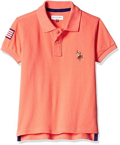 US Polo Boys' T-Shirt (UKTS6416_Medium Pink _S HS)