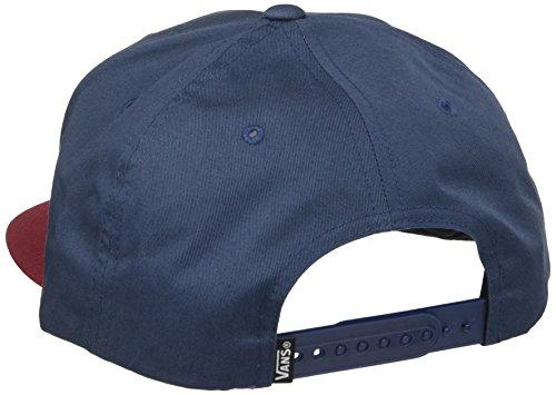 Herren Kappe Vans Side Stripe Snapback Cap Mehrfarbig (DRESS BLUES-RHUBARB J3C)