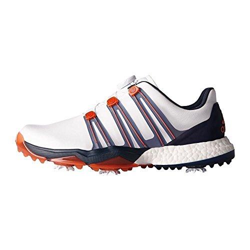 Adidas Powerband Boa Boost WD, Chaussures de Golf Homme, Blanc (White F33788), 46 EU