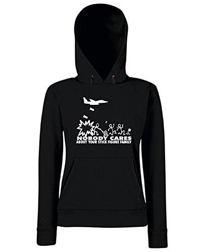 T-Shirtshock - Sweats a capuche Femme FUN0611 anti stick family die cut decal 11 80543 Noir
