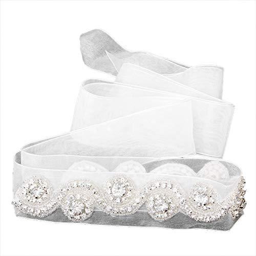DYCHUN Damen Kleid Gürtel Handgemachte Hochzeitskleid Gürtel Braut Schärpe Gürtel Strass Verziert -