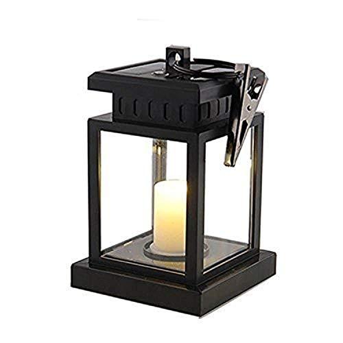 Asvert Lámpara Solar Retro Iluminación Exterior Colgante LED con Forma Vintage de...