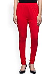 0-Degree Premium Leggings Churidar Ankle Length made of Soft Stretch Comfortable Breathable Cotton Mix Lycra Solid colors (Carrot Free Size XL 30 to 36 Inches Waist)