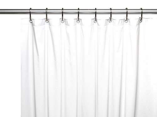 Carnation Home Fashions USC Jumbo Long Vinyl Shower Curtain Liner, 72-inch by 96-inch, White by Carnation
