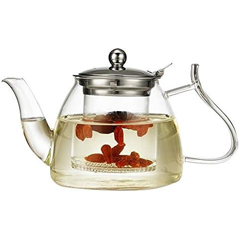 Tetera de cristal Blooming chino teteras de vidrio a prueba de calor vaso de té con filtro de vidrio Ollas