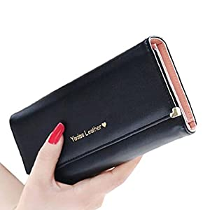 Koly Lady Women Retro Purses Hit Color Wallets Card Holder Bag Gifts