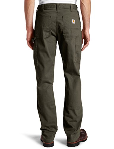 Carhartt Herren Relaxed Fit Washed Twill Dungaree Pant Café noir