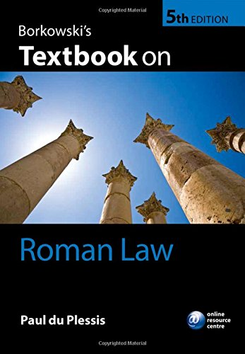 Borkowski's Textbook on Roman Law 5/e