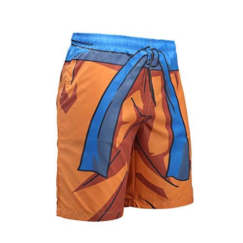 Hombres Pantalones Cortos Playa Verano Libre Deportes Hombre Secado Rápido Pantalones Cortos Transpirables Bola Dragón Goku Dibujos Animados Pantalones Cintura Elástica